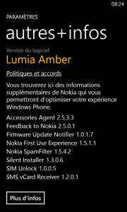 WP8 GRD2 Amber - Autres infos
