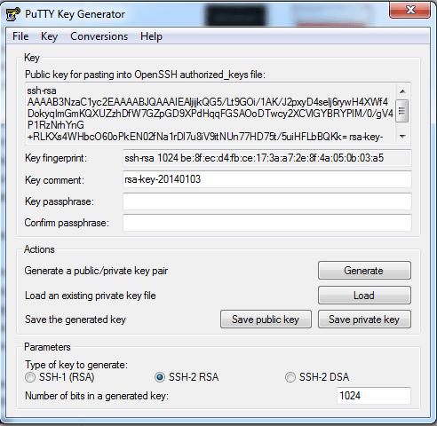 04 - SSH - puttyGen - cle Generees