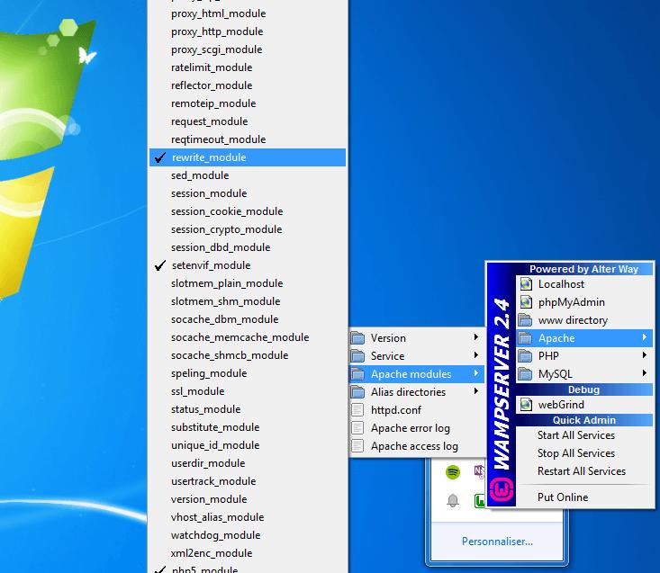 05 - WampServeur - Apache - Apache Module - Rewrite_Module