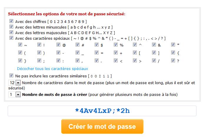 24 - creation utilisateur - generateur de mot de passe