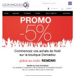Commencez vos achats de Noël sur la boutique Domadoo  grâce au code: REMDM5 valable jusqu'a demain minuit